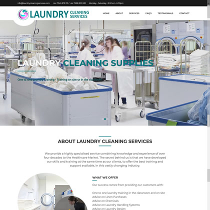 Commercial laundry supplies, training, manuals in England